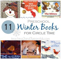 11 preschool winter books plus winter activities! From Teaching 2 and 3 Year Olds