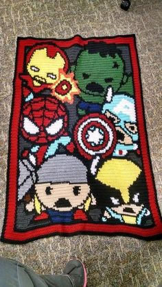 Looking for your next project? You're going to love Marvel Kawaii - Baby Blanket 120x140 by designer mwilliams8168. - via @Craftsy