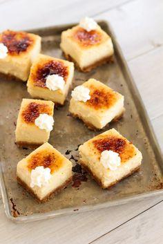 Eggnog Creme Brulee Cheesecake Bars