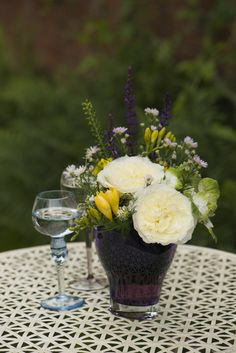 Patience Cottage Garden arrangement #CutFlowers #CutRoses