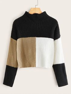 To find out about the Cut and Sew Rib-knit Sweater at SHEIN, part of our latest Sweaters ready to shop online today! Sweater Outfits, Sweater Cardigan, Casual Outfits, Men Sweater, Fashion Outfits, Fashion Styles, Shein Pull, Long Sweaters, Sweaters For Women