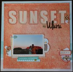 Travel & Scrap: Layout con cuciture