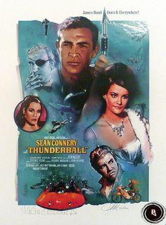 James Bond Thunderball movie poster