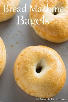 Bread Machine Bagels a bread machine is so convenient and it is surprisingly easy to to use in making the perfect bagel dough. - Bread Maker - Ideas of Bread Maker No Bread Diet, Best Keto Bread, Bread Food, Pita Bread, Cheese Bread, Bread Baking, Food Food, Almond Recipes, Baking Recipes