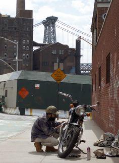 newyork, NYC, NY, Brooklyn, bushwick, street, motorcycle, motorbike, bike, wiliamsburg, wiliamsburgbridge, domino, sugarfactory, street, street photography,