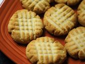 Flourless shortbread cookies