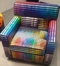 Pantone chair. A bit tacky and only good when it's brand new, but it'd be an interesting waiting-room chair. Maybe for children's hospitals?