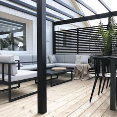 Backyard Pergola Plans - Pergola Attached To House Garden Structures - - Pergola Garten - Pergola Deck Lights - Pergola Terrasse Plexi Patio Deck Designs, Patio Design, Patio Ideas, Landscaping Ideas, Backyard Ideas, Fence Design, Black Pergola, Black Deck, Backyard Pergola