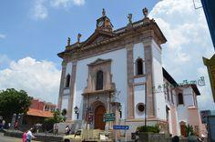 El templo de la Inmaculada Concepción, en Uruapan, Mich.
