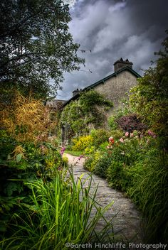 Beatrix Potter's Side Garden at Hill Top House