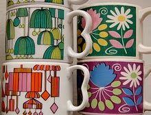 groovy retro coffee cups