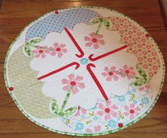 April Showers  Round Table topper pattern by BejeweledQuilts, $4.00