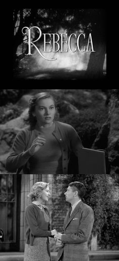 """""""Anoche soñé que volvía a Manderley"""" """"Last night I dreamt I went back back to Manderley"""" - Joan Fontaine en Rebecca (Alfred Hitchcock, 1940)"""