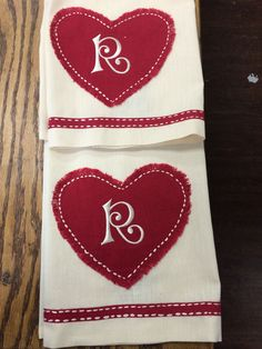 Valentines Day towels
