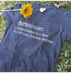 .Because we all love rust and Joanna Gaines. Perfect for country chic bloggers, farmers markets or just to lounge around.   This is a unisex short sleeve tee. Pictured is charcoal.