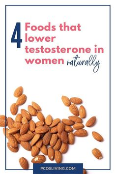 These 4 foods lower testosterone in women naturally. // Hormones These 4 foods lo Foods To Balance Hormones, How To Regulate Hormones, Balance Hormones Naturally, Lower Testosterone In Women, Boost Testosterone, Female Hormone Imbalance, Hormone Diet, Pcos Diet Plan, Pcos Infertility