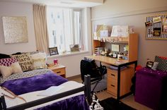 prettythings-and-studying:  A clean room for a fresh start at second semester :) #dormroom #katespadeinspired #studyblr