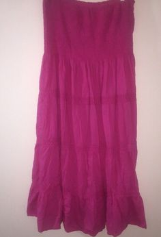 ad4cac842ce Plus Size 3X Smocked Tiered Sundress Midi Mid-calf Pink Speed Central NY   SpeedCentralNewYork