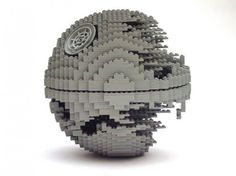 """Death Star"" by Nathan Sawaya (Lego artist) Lego Sculptures, Art Sculpture, Legos, Construction Lego, Lego Craft, Lego For Kids, Star Wars Images, Cool Lego Creations, Star Wars"