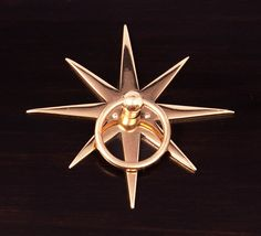 starburst ring pull, designed exclusively by Pulp Home FINISH: Polished Brass   Door Knockers, Door Knobs, Hardware Pulls, Cabinet Hardware, Brass Hardware, Muebles Art Deco, Drawer Pulls, Polished Brass, Decorative Items