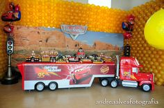decorando festa carros disney