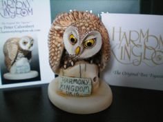 Harmony Kingdom NEW UK CONVENTION Event Piece Owl Whoo's Coming? V1 Artist SGN   #BoxFigurinePendant
