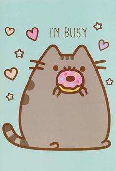 ^ Donut bother me, I'm very busy right now. Cat Wallpaper, Kawaii Wallpaper, Cute Wallpaper Backgrounds, Iphone Wallpaper, Cute Kawaii Drawings, Kawaii Doodles, Kawaii Cute, Pusheen Love, Digital Foto