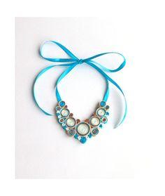 Rinfrescante primavera tessile collana  di HandmadebyUkropova, $28.00
