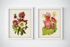 Floral print Floral printable art Wall art by RestoredBotanicalArt