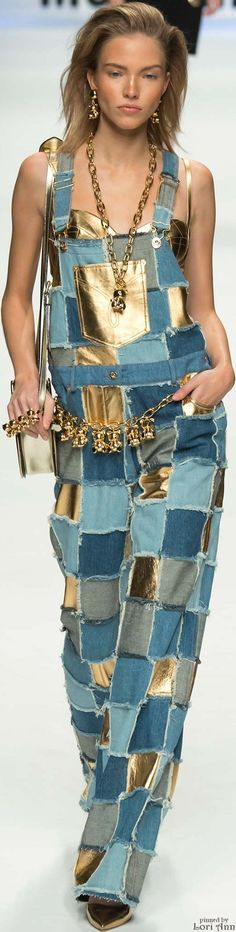 Moschino Fall 2015 RTW.  Wish I was younger!  Love this.