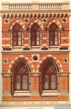 13   Victorian Brick and Terra-Cotta Architecture - Викторианская кирпичная и терракотовая архитектура   ARTeveryday.org