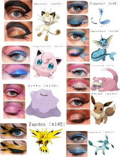 """Pokemon Inspired Makeup"" by labs13 ❤ liked on Polyvore"