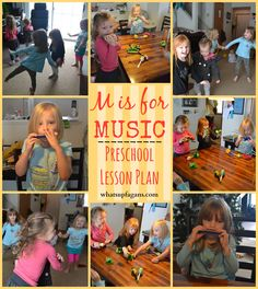 M is for Music: Preschool Lesson Plan; I'm doing this with my pre-schoolers next year - one letter per plan tied to an instrument
