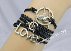 Mockingjay pin braceletcatching fireLOVE by charmcase on Etsy, $8.99