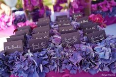 Love the purple paper with silver writing