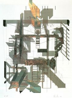 archilibs: 'Sixth Street' by Thom Mayne 'Sixth Street' by Thom Mayne Architecture Drawings, School Architecture, Architecture Plan, Architecture Details, Morphosis Architects, Urban Island, Isometric Drawing, Deconstructivism, Nyc Art