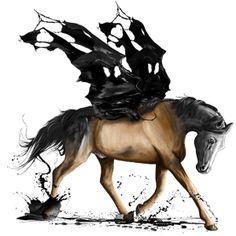 Typografie, Pegas Fríský kůň Vraník #18417644 - Howrse