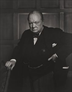 "1941 Iconic photo of Winston Churchill taken by Yousef Karsh. Click through to read how Karsh managed to catch Churchill in this particularly ""determined"" pose. It's a great story!"