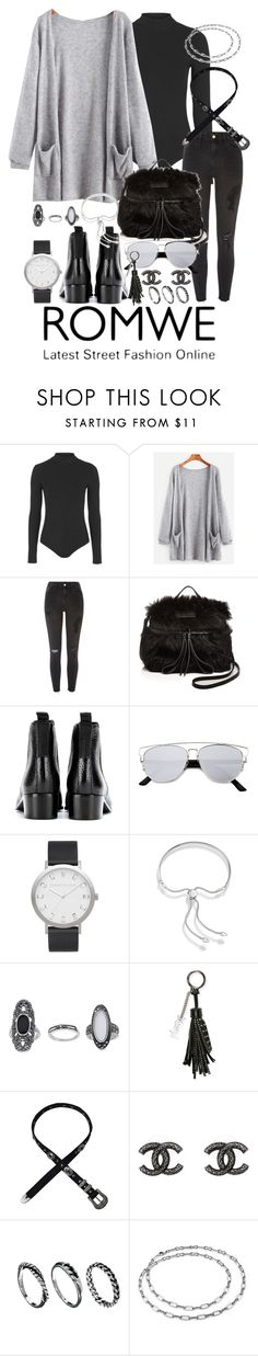 """""""Untitled #206"""" by jenimh99 ❤ liked on Polyvore featuring Topshop, River Island, Marc by Marc Jacobs, Acne Studios, ZeroUV, Elwood, Monica Vinader, Yves Saint Laurent, Chanel and DesignSix"""