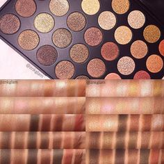 @znkglam went all out with these 35OS palette swatches! So gorg. Shop www.morphebrushes.com our most popular palettes are back in stock #TeamMorphe #MorpheGoals #morphebabe