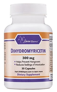 Dihydromyricetin (Hovenia Dulcis Extract) Scientifically Proven to Prevent Hangovers (Naturally Obtained from the Oriental Raisin Tree) 30 Capsules 300mg * For more information, visit image link.