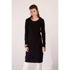 Building Block Long Sleeve Dress in Black
