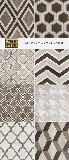 Sunroom Flooring if we didnt do wall to wall carpet for playroom? The Sterling Row Collection // Porcelain & Marble tile // Walker Zanger Floor Patterns, Tile Patterns, Textures Patterns, Pattern Texture, 3d Texture, Floor Design, Tile Design, Design Art, Quilt Inspiration