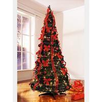 Klassisch: rot geschmückter Weihnachtsbaum