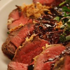 Emeril Lagasse's Horseradish-Crusted Tenderloin of Beef with Port Wine Reduction