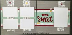 The second layout in my Speed Scrapbooking kit for January 2017, using CTMH's Sugar Rush paper suite. Purchase it at www.cropcraftcreate.com