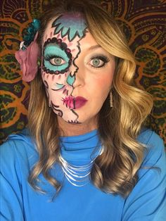Day of the Dead makeup. Limelight by Alcone products. Lottie Dazzle palette (limited edition)