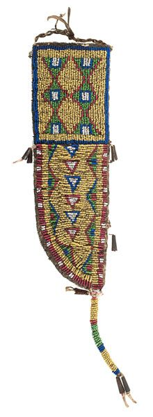 Sioux Beaded Hide Knife Sheath from the Historic Glen Isle Resort, Bailey, Colorado (9/11/2015 - American Indian: Timed Auction - ends 9/28)