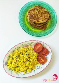 Turmeric tofu scramble and hash browns - vegeTARAian