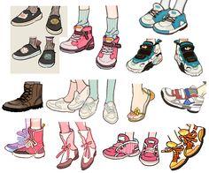 Manga Drawing, Figure Drawing, Drawing Sketches, My Drawings, Drawing Clothes, Shoe Drawing, Drawing Reference Poses, Character Design Inspiration, Character Illustration